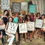 wine and wood sign painting studio