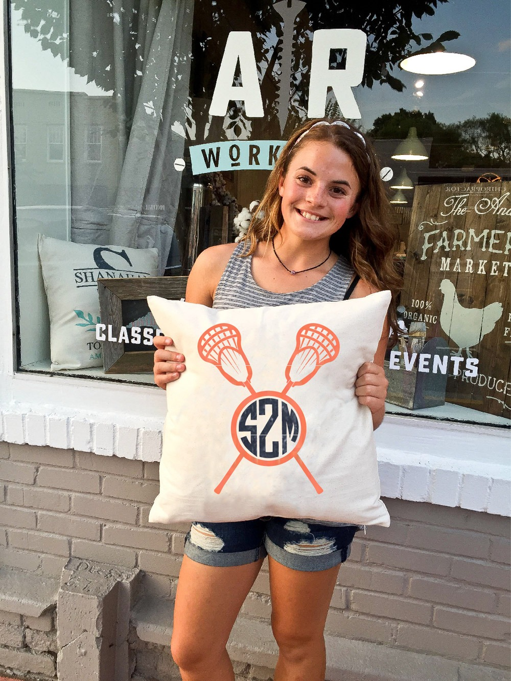 monogrammed lacrosse pillow ar workshop
