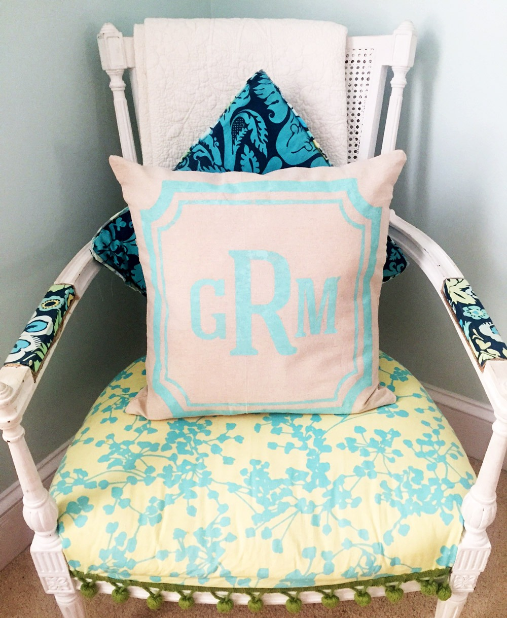 monogram pillow ar workshop