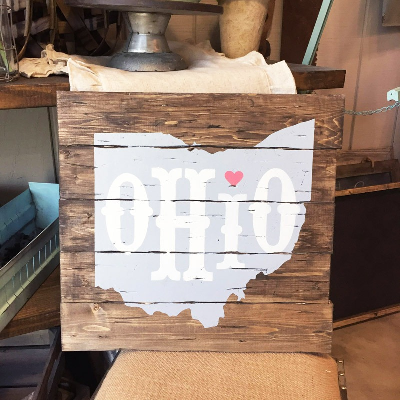 Ohio wood sign ar workshop plank