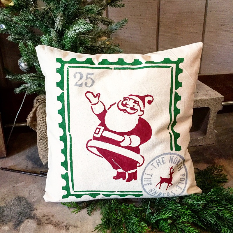 vintage santa pillow ar workshop christmas pillow