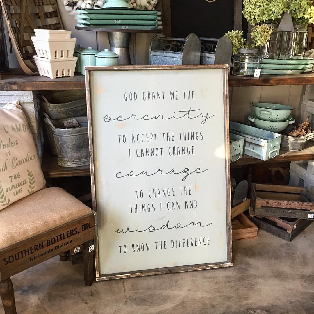 serenity prayer wood sign ar workshop