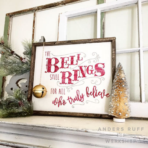 bell rings who all believe framed sign