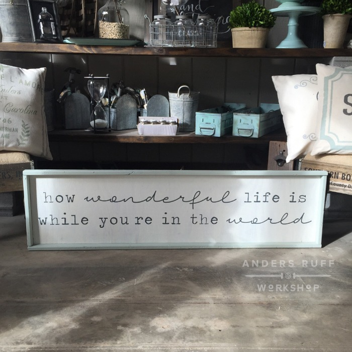 How Wonderful Life wood sign pallet wood sign ar workshop
