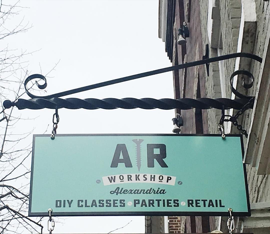 ar workshop alexandria diy wood sign class