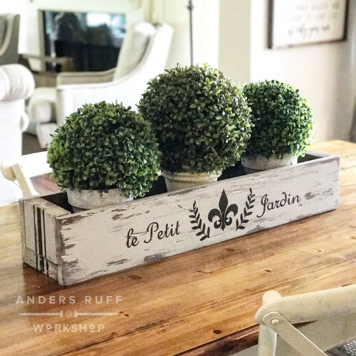 diy wood planter box centerpiece box farmhouse anders ruff