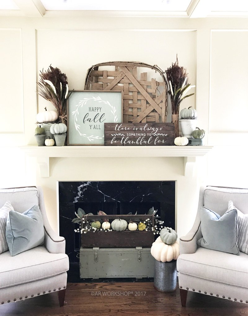 diy fall mantle inspiration