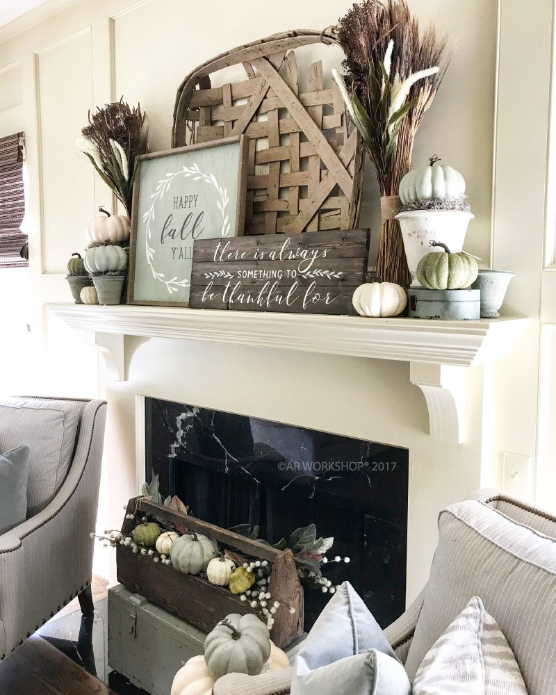 farmhouse fall mantle inspiration and diy projects