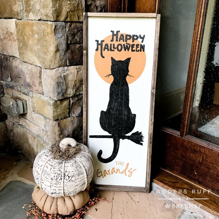 happy halloween porch sign