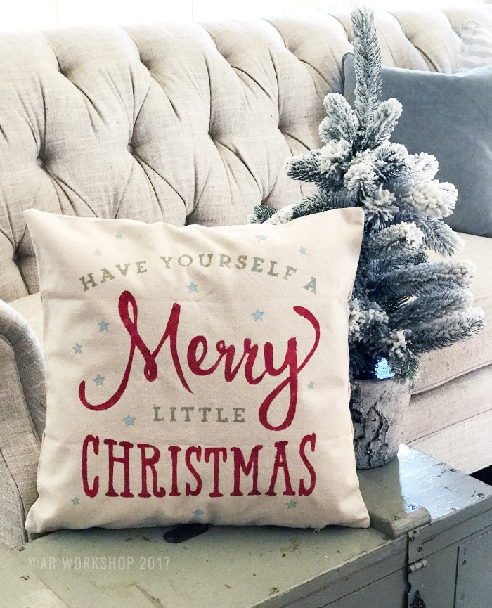 have yourself a merry little christmas pillow diy craft studio