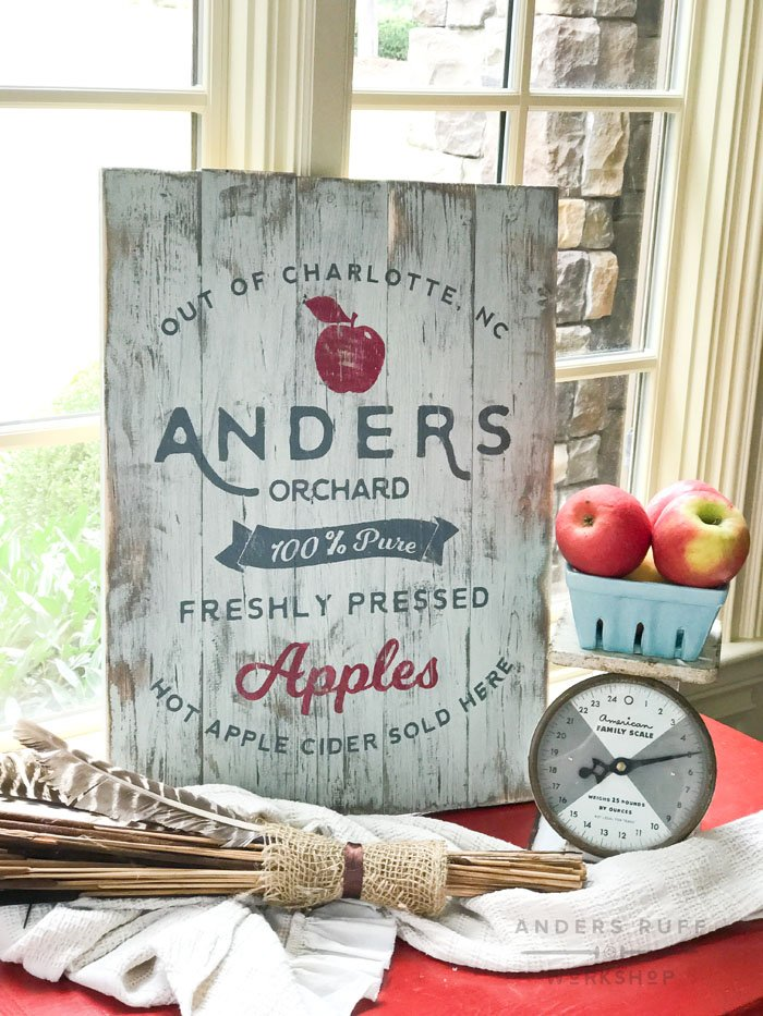 hot cider wood sign diy