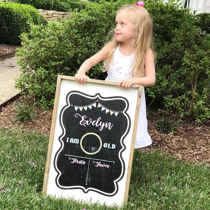 Birthday Chalkboard Framed Sign