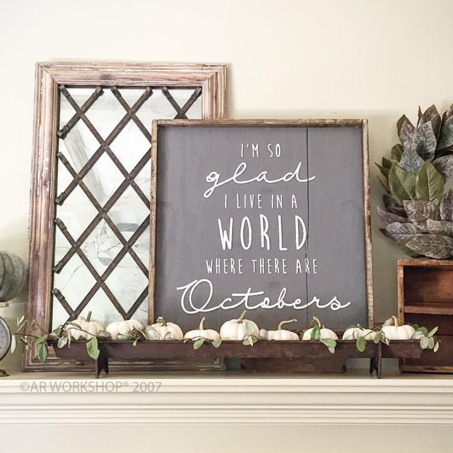 fall mantle diy wood signs