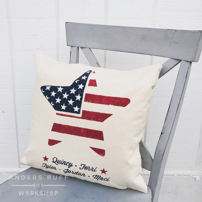 american flag pillow star patriotic pillow diy project
