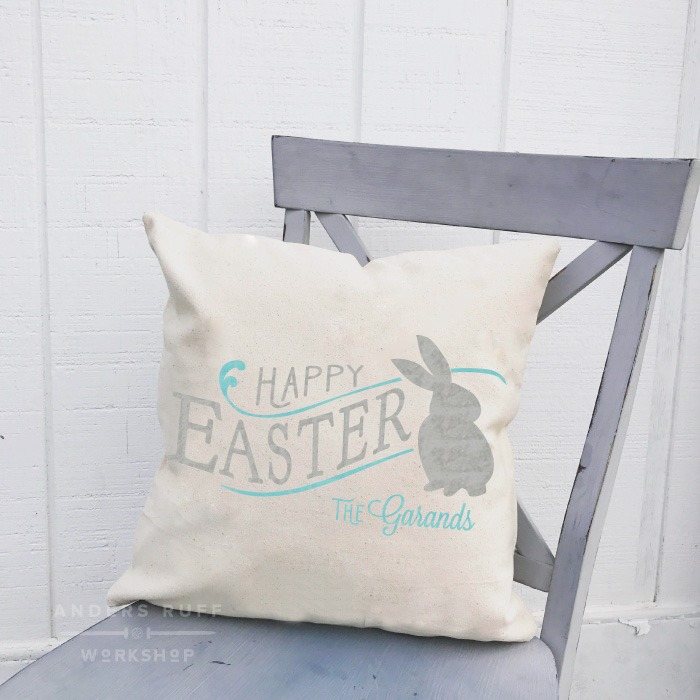 Happy easter pillow diy farmhouse pillow class