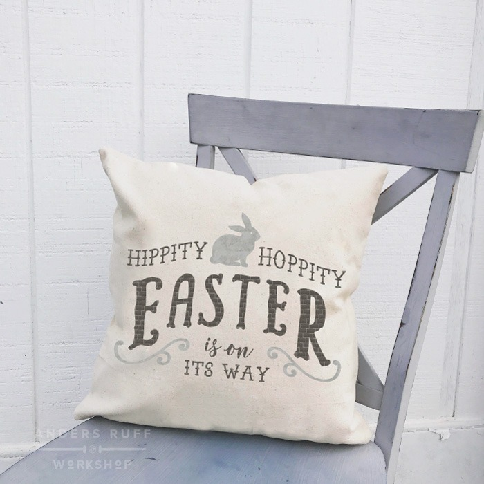 hippity hoppity easter diy pillow class ar workshop
