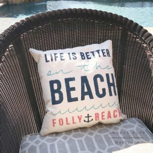 life is better at the beach diy canvas pillow
