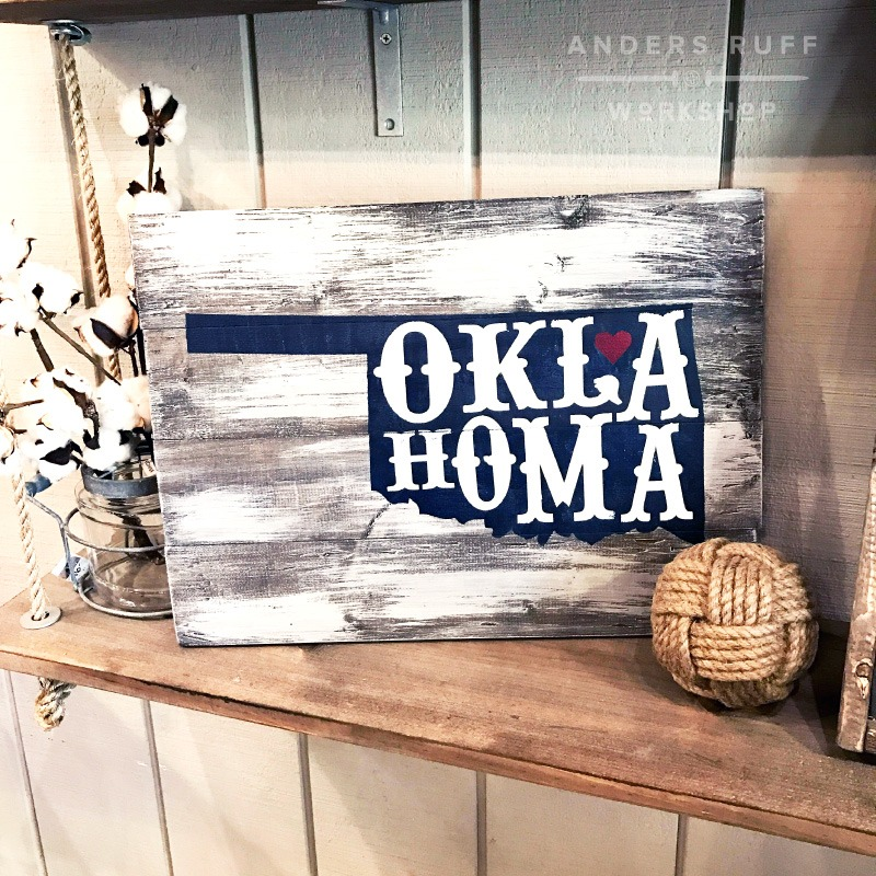 oklahoma wood sign diy home state sign
