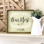 Our Nest Wood Pallet Sign pallet parties