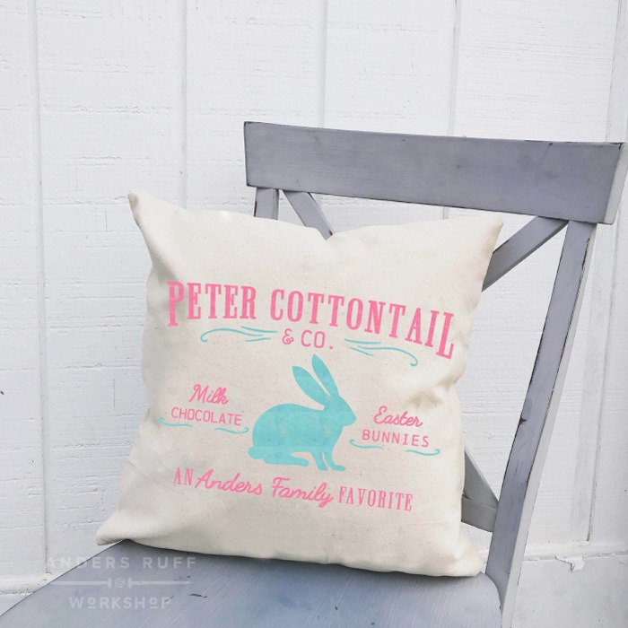 peter cotontail easter pillow diy class