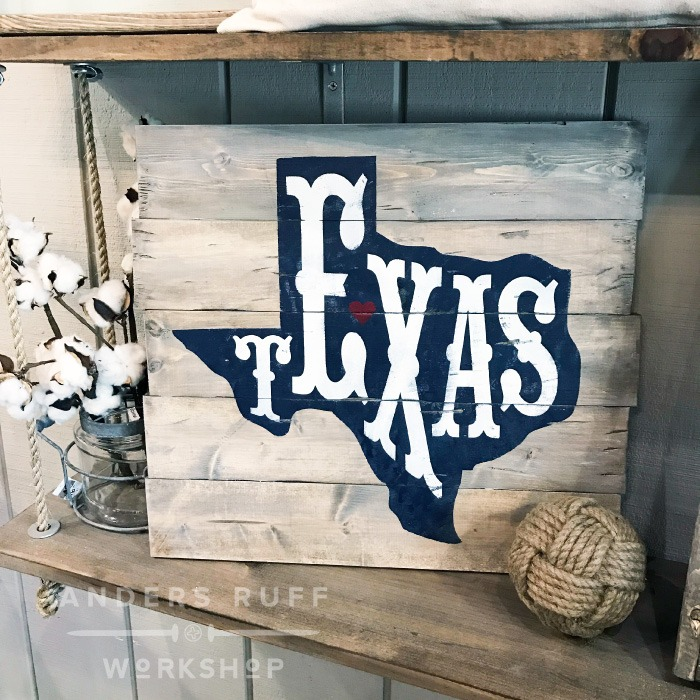 texas home state sign wood rustic texas diy sign