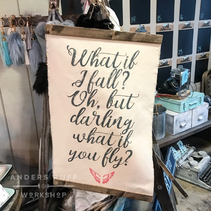 What if I Fall canvas wall hanging