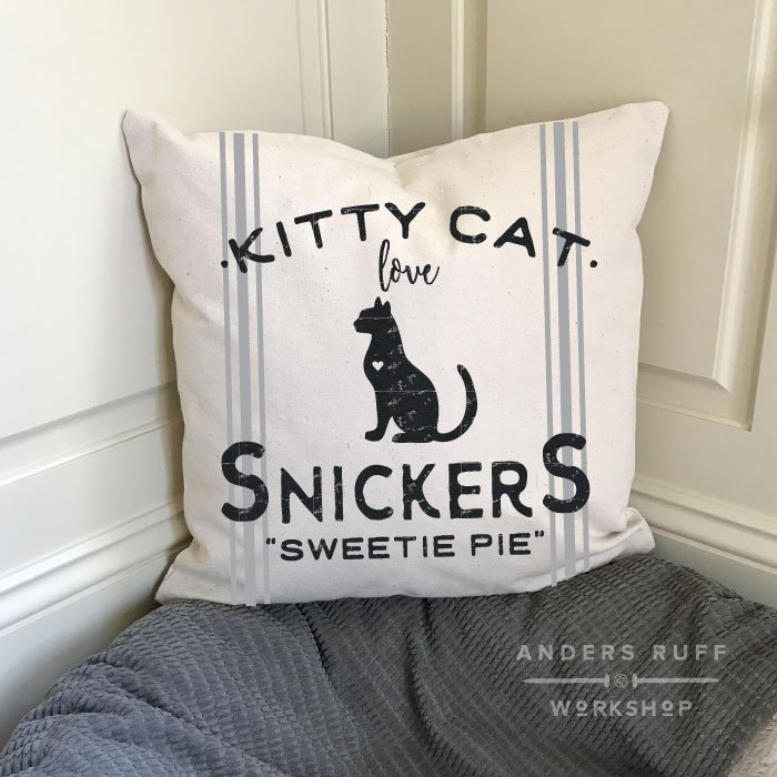 kitty cat love pillow diy