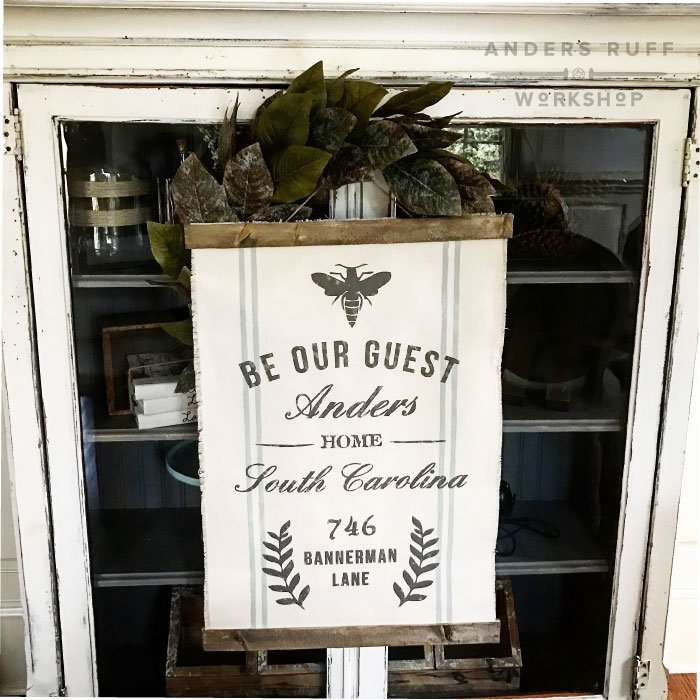 be our guest room sign canvas wall hanging