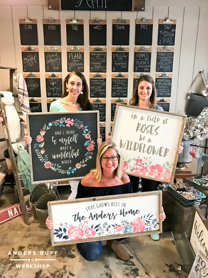 floral watercolor wood signs