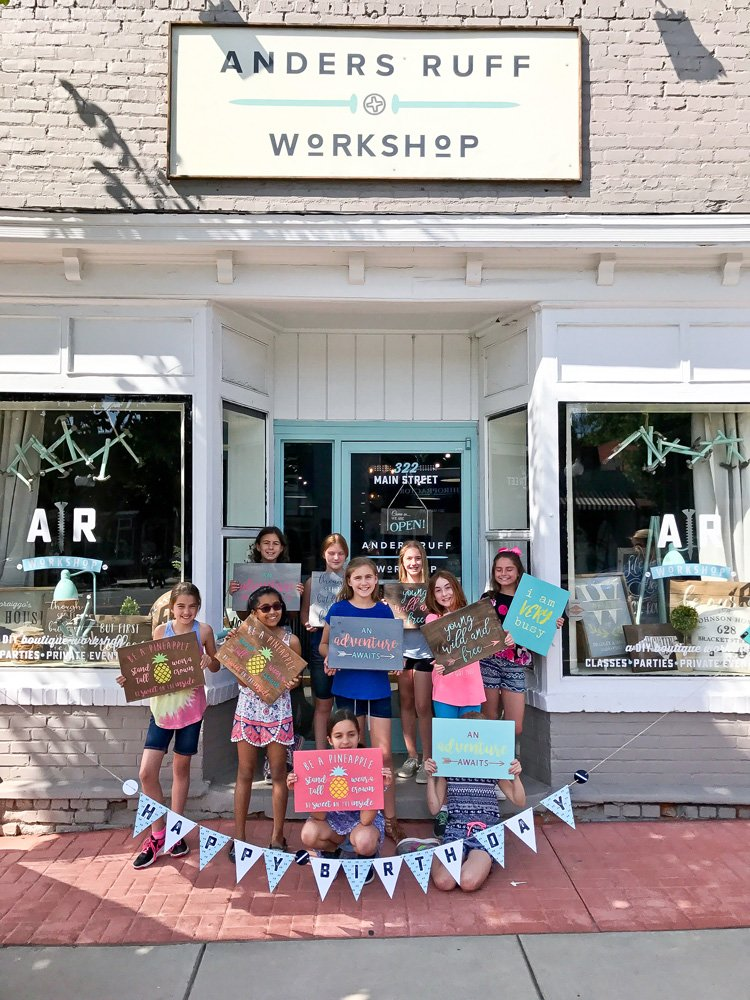 Wood Signs And Craft Classes Are All The Rage Right These 10 Year Olds Knew How To Throw A Birthday Party For Their Sweet Friend Didnt They