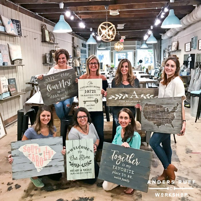 diy sign painting class and wine ar workshop