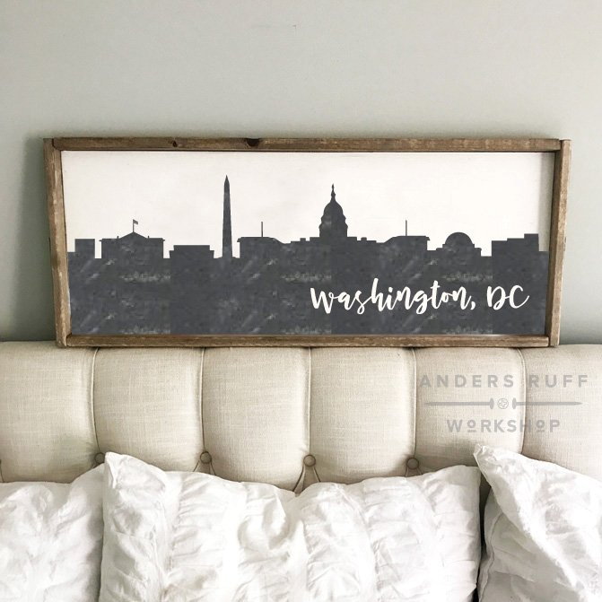 washington dc skyline sign