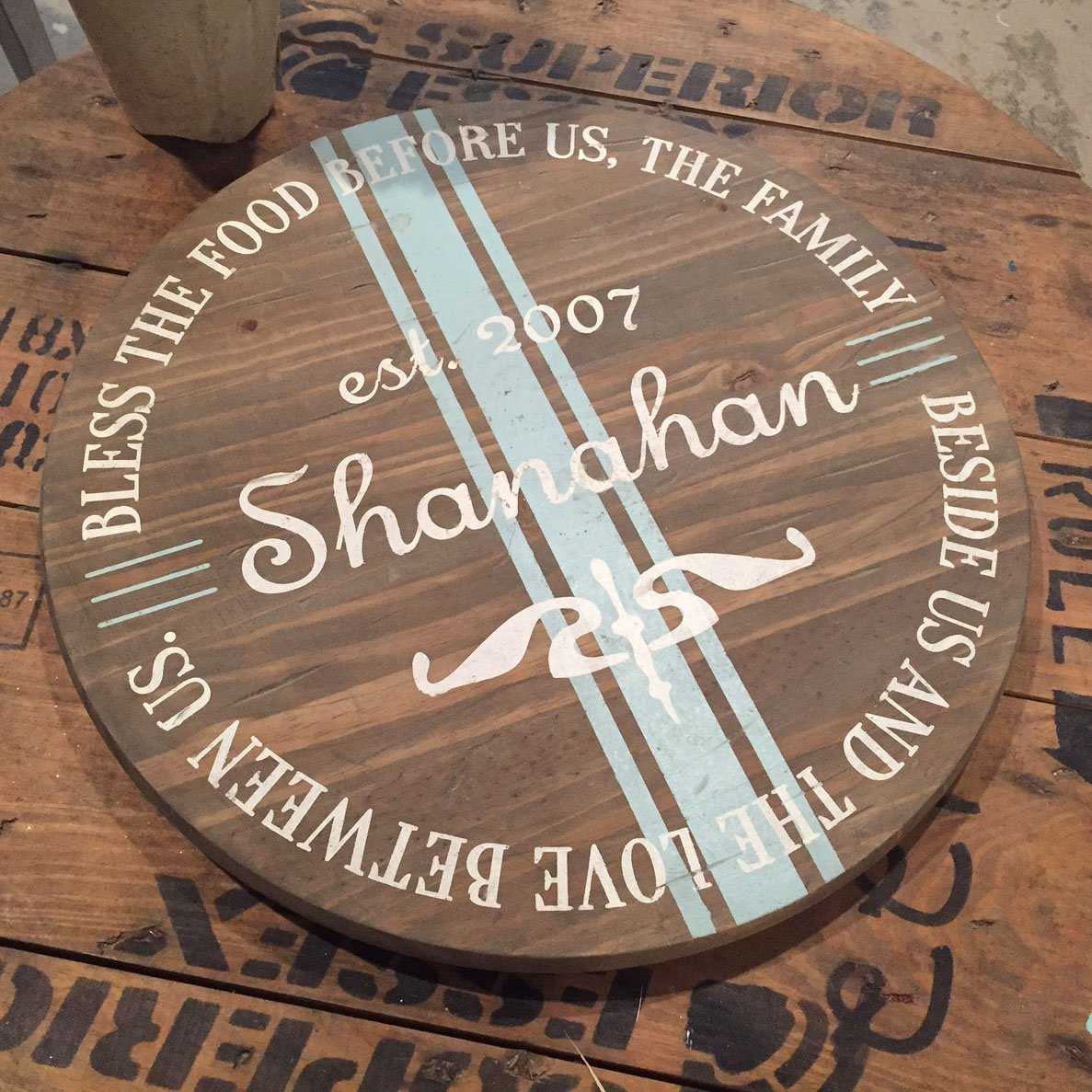 bless this food prayer lazy susan custom