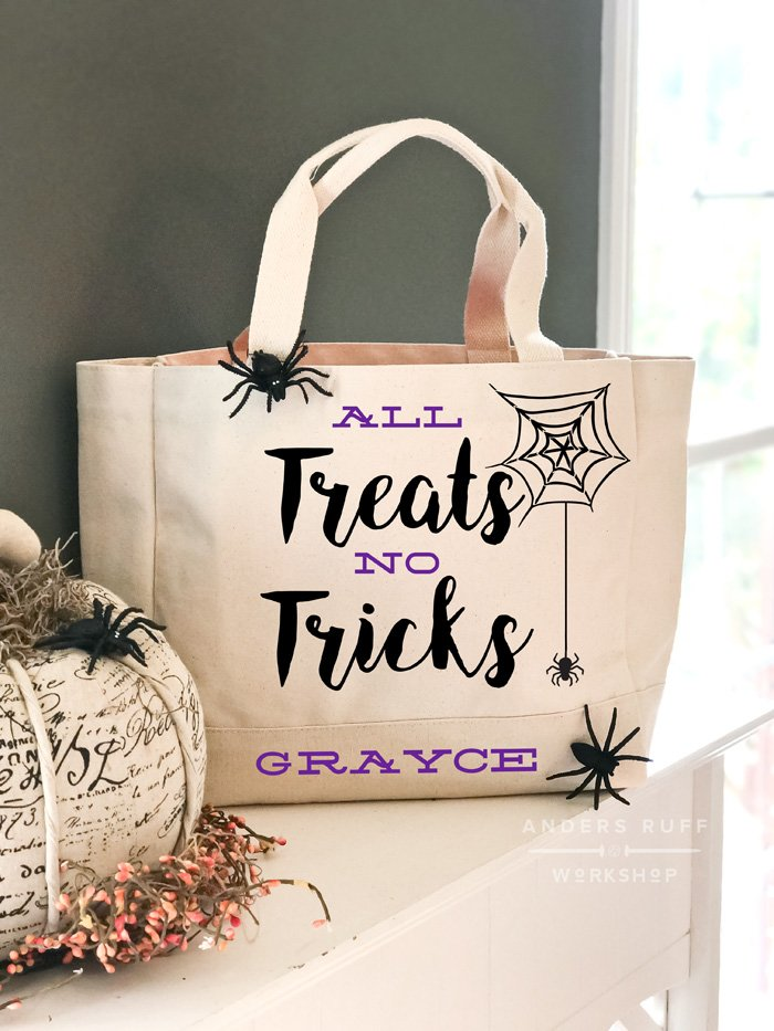 diy trick or treat tote bag