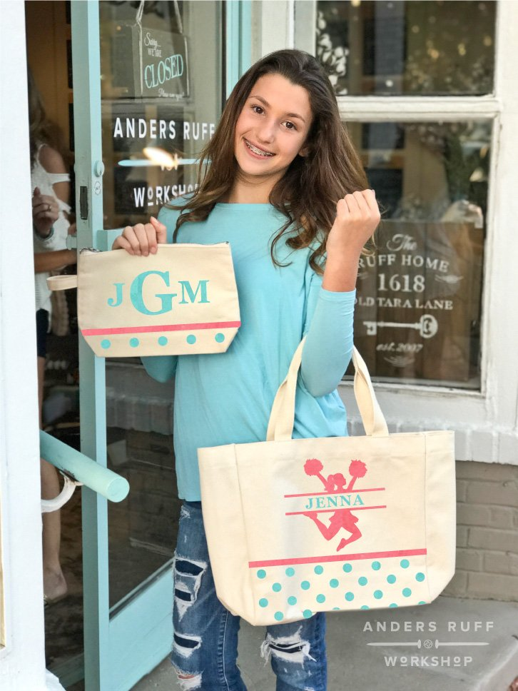 cheerleader canvas bag tote