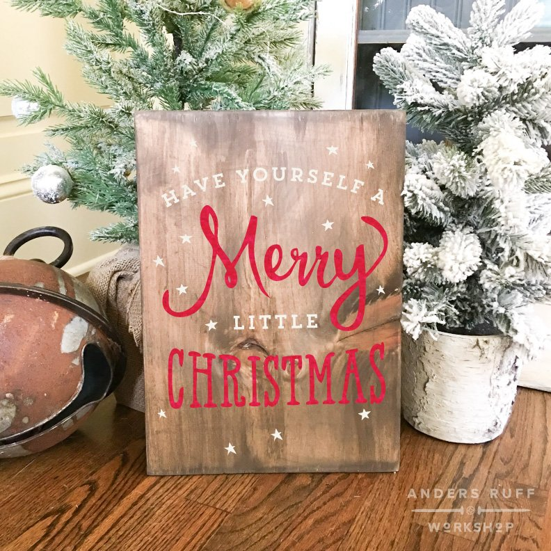 have yourself a merry little christmas plank board sign 1216 - Southern Womens Christmas Show