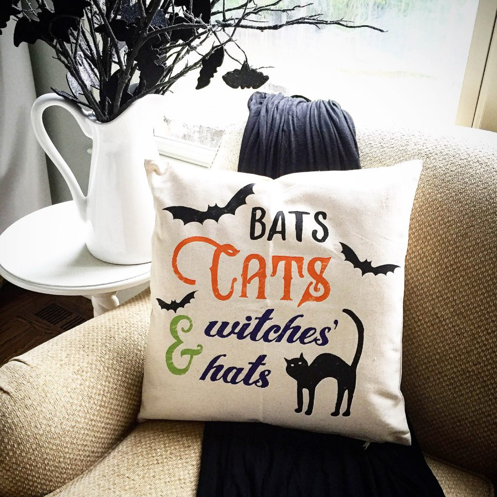 Bats Cats Witches Hats Pillow