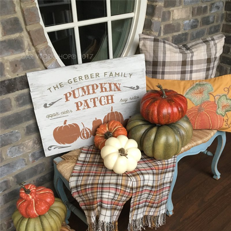 pumpkin patch wood sign diy class