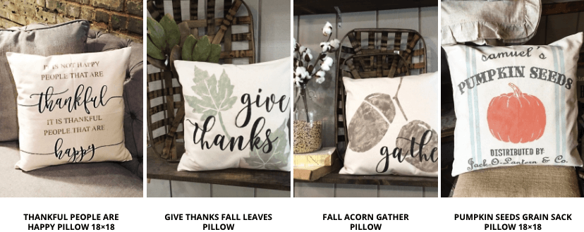 Fall Canvas Pillow Designs