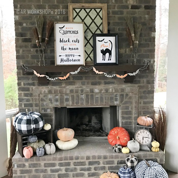 better homes and gardens halloween cat sign