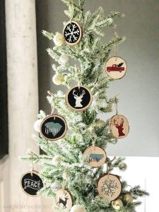 wood slice ornaments diy