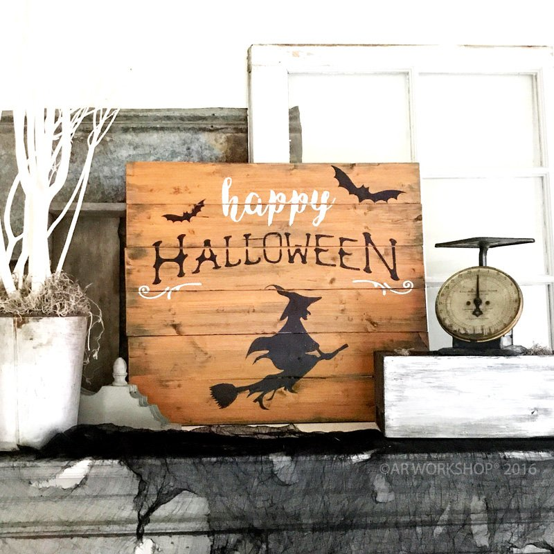 happy halloween witch wood sign diy ar workshop