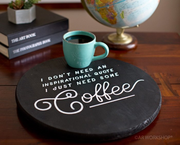 diy Coffee round wood sign