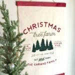 Christmas Tree Farm Established Canvas Wall Hanging