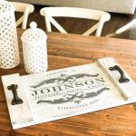 French Inspired Family Name Wood Tray