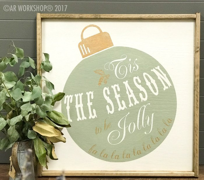 ornament tis the season to be jolly framed wood sign