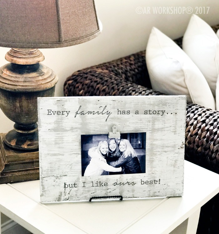 EVERY FAMILY HAS A STORY WOOD PHOTO FRAME