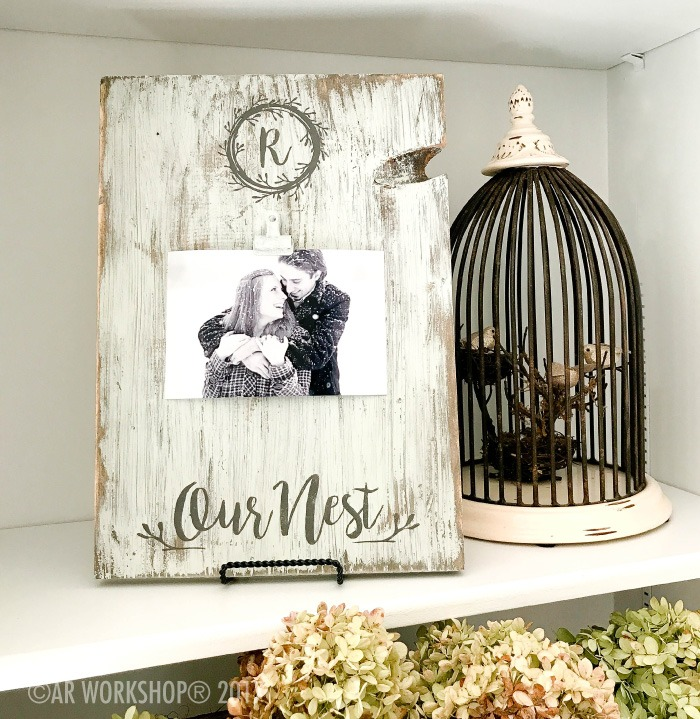 MONOGRAM OUR NEST WOOD PHOTO FRAME