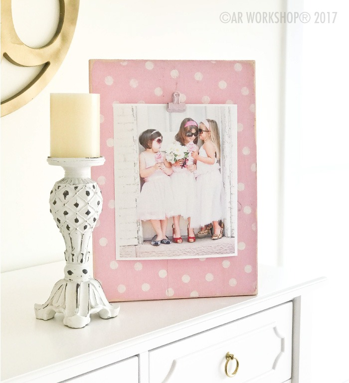 POLKA DOT WOOD PHOTO FRAME