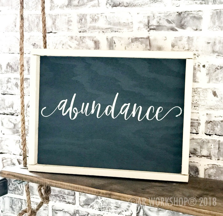 so pretty font - your word - 14x18 framed sign (any word) abundance